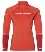 Футболка для бега Asics Lite Show Winter Ls 1/2 Zip Top (Women) 2012A007 600
