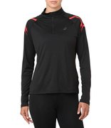 Футболка для бега Asics Icon Ls 1/2 Zip Top (Women) 2012A234 002