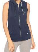 CHAMPION SLEEVELESS HOODED FULL ZIP SWEATSHIRT (W) 106314-BLI