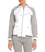 Champion Hooded Full Zip Sweatshirt (W) 105467-WHT/OXG/OX