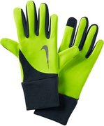 NIKE MEN'S ELEMENT THERMAL RUN GLOVES L VOLT/ANTHRACITE N.RG.97.707