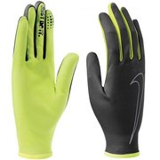 NIKE MEN'S RALLY RUN GLOVES L BLACK/VOLT N.RG.A0.023