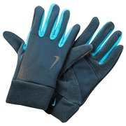 NIKE WOMEN'S TECH THERMAL RUNNING GLOVES L ARMORY SLATE/GAMMA BLUE N.RG.56.040