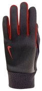 NIKE WOMEN'S TECH THERMAL RUNNING GLOVES S BLACK/CHALLENGE RED N.RG.56.479