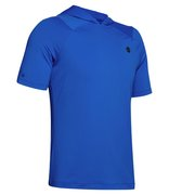 Мужская беговая футболка Under Armour Rush HeatGear Short Sleeve Hoodie 1353451-486